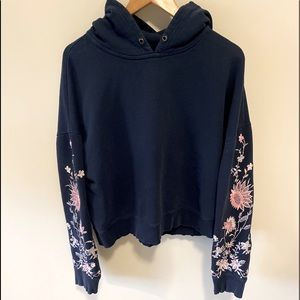 Urban Outfitters Embroidered Sleeve Hoodie